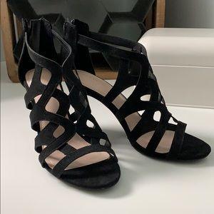 NEW Cage Black Heels
